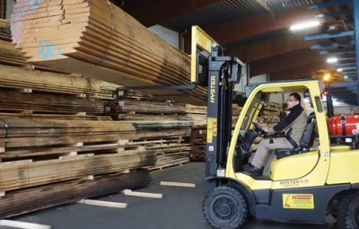 Holz-Tusche and Hyster trucks