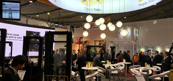 Visitors Experience 'This is Yale' At LogiMAT 2019