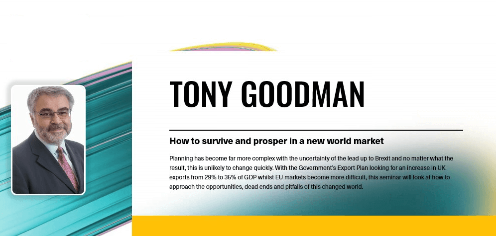 Tony Goodman, export and manufacturing expert